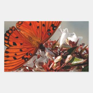 Beautiful Gulf Fritillary Butterfly Stickers