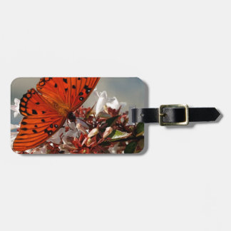 Beautiful Gulf Fritillary Butterfly Tags For Bags