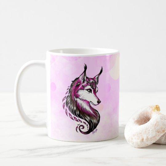 Beautiful Hand Drawn Wolf Pretty Coffee Mug