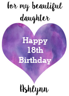 Beautiful Happy 18th Birthday Daughter Card