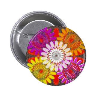 Beautiful HAPPY CHAKRA Sunflower Greetings GIFTS 6 Cm Round Badge