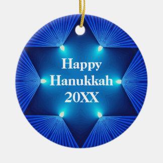 Beautiful Happy Hanukkah 20XX Ornament