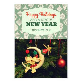 Beautiful Happy New Year Holiday Photo Card 13 Cm X 18 Cm Invitation Card