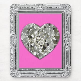 Beautiful Heart Of Diamonds Mousepad