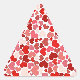 beautiful hearts pattern triangle sticker