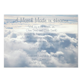 Beautiful Heavenly Clouds Wedding Invitation