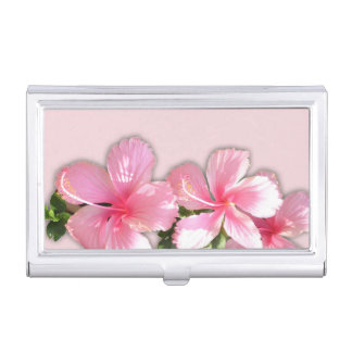 Beautiful Hibiscus Flowers Business Card Holder