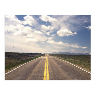 Beautiful highway scenery postcard