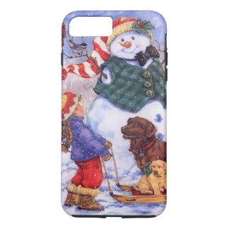 Beautiful Holiday Custom Christmas Snowman iPhone 8 Plus/7 Plus Case