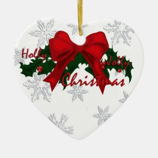 Beautiful Holly Christmas Ornament