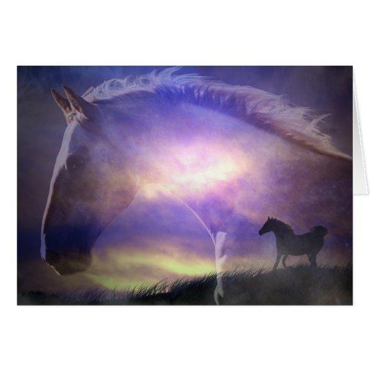 Beautiful Horse Art Birthday Card