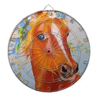Beautiful horse dartboard