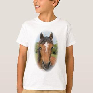Beautiful horse head chestnut photo kids t-shirt