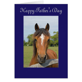 Beautiful horse head happy father s day card