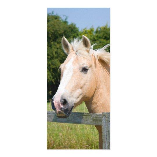 Beautiful horse head palamino custom name bookmark rack