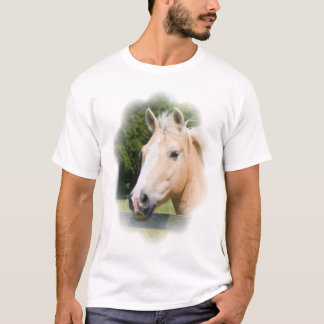 Beautiful horse head palamino photo mens t-shirt