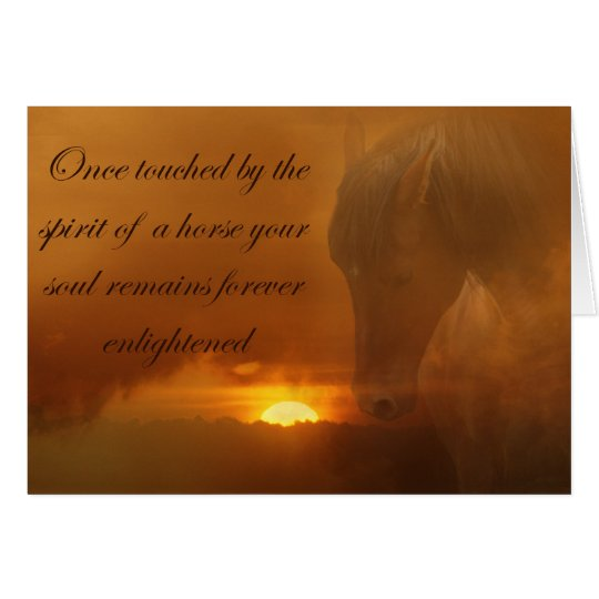 Beautiful Horse Memorial Card