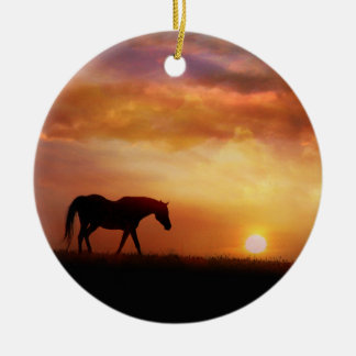 Beautiful Horse Memorial Ornament