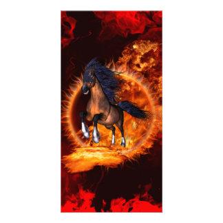 Beautiful horse custom photo card