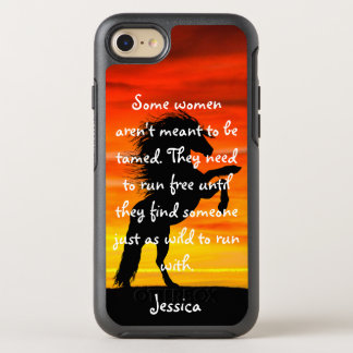 "Beautiful Horse Rearing ""Some Women"" Quote OtterBox Symmetry iPhone 7 Case"