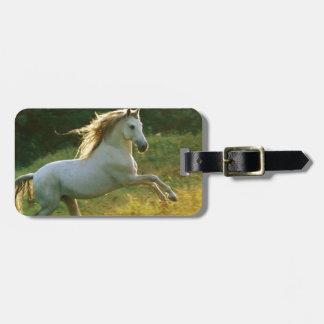 Beautiful horse running luggage tag
