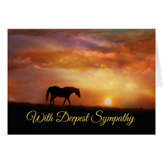 Beautiful Horse Sympathy Card