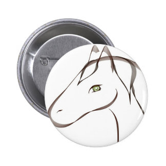 Beautiful horse with green eyes original 6 cm round badge