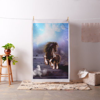 Beautiful  horse with moon i fabric