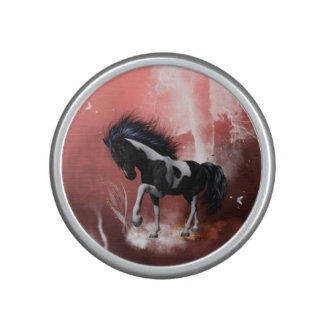 Beautiful horse with twisters bluetooth speaker
