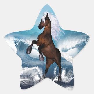 Beautiful horse with white mane star sticker