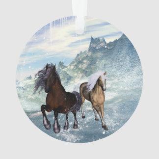 Beautiful horses ornament