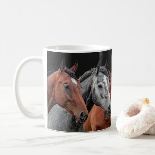 BEAUTIFUL HORSES PORTRAIT FOR HORSE LOVERS COFFEE MUG