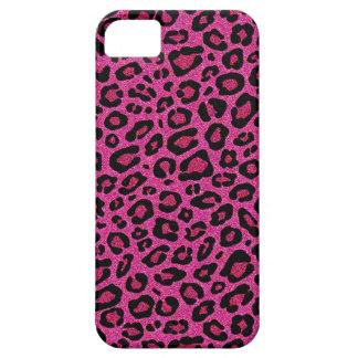 Beautiful hot pink leopard skin glitter shine iPhone 5 case