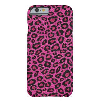Beautiful hot pink leopard skin glitter shine iPhone 6 case