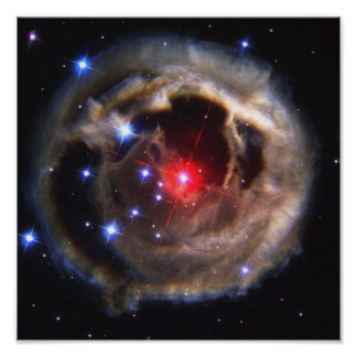 Beautiful Hubble Red Variable Star Photograph Poster