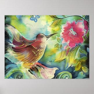 Beautiful Hummingbird Poster