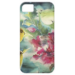 Beautiful Hummingbirds at Night Silk Art Barely There iPhone 5 Case