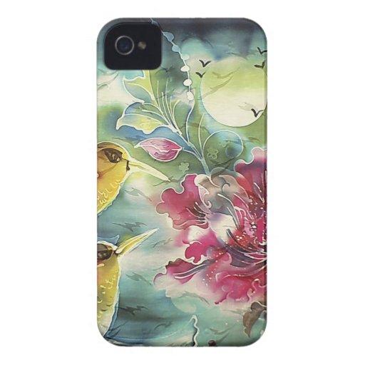 Beautiful Hummingbirds at Night Silk Art Case-Mate iPhone 4 Cases