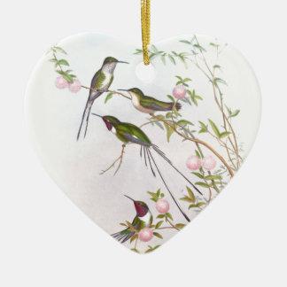 BEAUTIFUL HUMMINGBIRDS CERAMIC HEART DECORATION