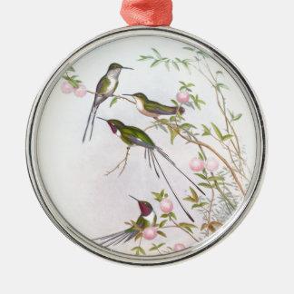 BEAUTIFUL HUMMINGBIRDS CHRISTMAS ORNAMENT