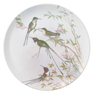 BEAUTIFUL HUMMINGBIRDS PLATE