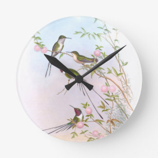 BEAUTIFUL HUMMINGBIRDS ROUND CLOCK