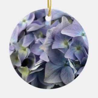 Beautiful Hydrangea Round Ceramic Decoration