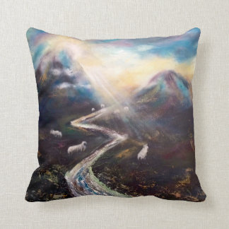 Beautiful Iceland Sheep in a Valley Pillow