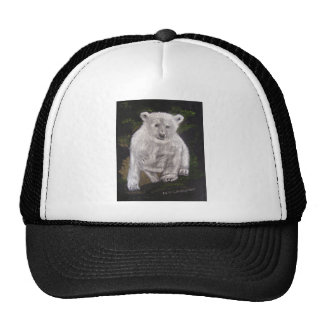 Beautiful illustration of a polar bear boy hat
