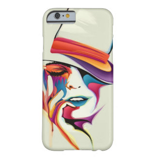 beautiful image of the woman's face with a hat art barely there iPhone 6 case