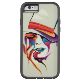 beautiful image of the woman's face with a hat art tough xtreme iPhone 6 case