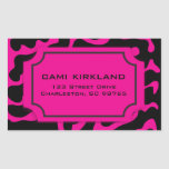 Beautiful in Black and White Pink and Black Tag Rectangular Sticker