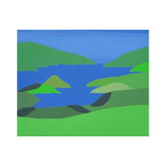 Beautiful inland estuary scene canvas prints