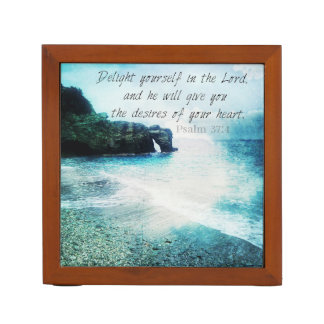 Beautiful, Inspirational Bible Verse Psalm 37:4 Pencil Holder